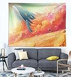 KHKJ Decoración para el hogar Impresión de Ballenas Tapices para Colgar en la Pared Estera de Yoga Manta Decoración de habitación estética Decoración Mural Decoración de habitación Linda A7 200x150cm