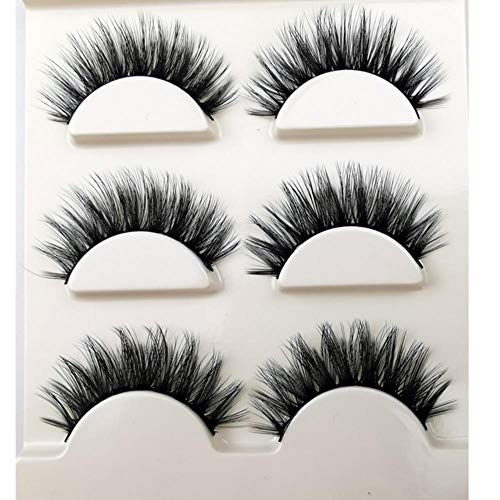 XZY Eyelashes Fake Eye Lashes Make up Handmade Lashes False Lash Volume Eyelash Extension,3PAIR 1box