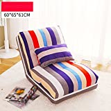 SF Faules Sofa Lazy Sofa, Single Simple Sofa Stuhl, Schlafzimmer Doppel-Schlafsofa, Falten Lazy Bed (Farbe : 1#, größe : 60 * 65 * 61cm)