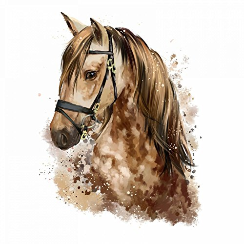 nikima - 085 Wandtattoo Pferd Kopf braun Kinderzimmer Deko - in 5 Größen - niedliche Kinderzimmer Sticker und Aufkleber süße Wanddeko Wandbild Junge Mädchen Größe 500 x 660 mm