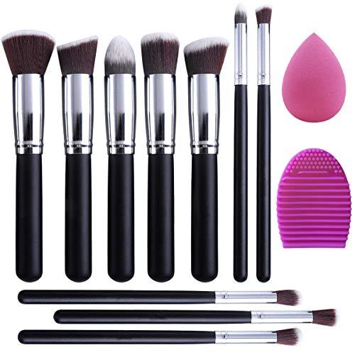 EONO Essential Set de Brochas de Maquillaje Profesional, Synthetic Kabuki Premium para...