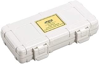 JFYHZ Cigar Box, Portable Travel Cedar Wood Cigar Box, Humidor, Black, White, Red, Orange (Color : White)