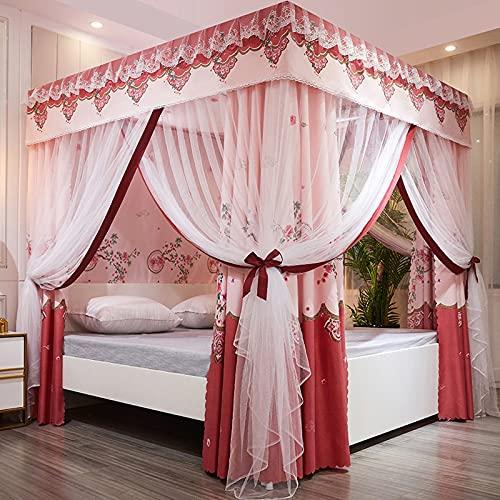 Universal Square Mosquito Net Net Durmiente Net Net Dormitorio Dormitorio Dormitorio Finest Holes Fácil instalación C