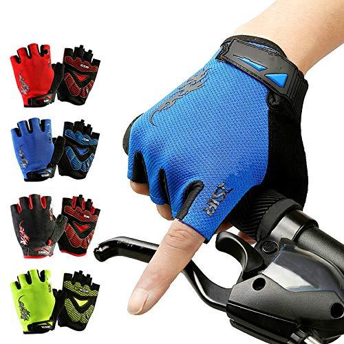 Fietshandschoenen Sport Mode Warm Winddichte Gel Slip Schokbestendig Rijden Berg Ademende Pad Bike Half Vinger Apparatuur