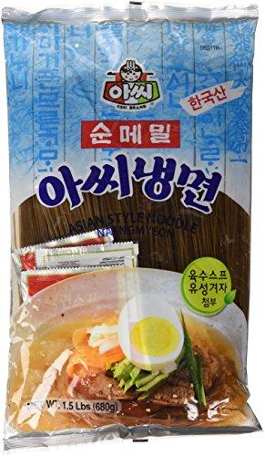 Naengmyeon Koreanisches Nudelgericht mit Buchweizennudeln 680g (hellblau))