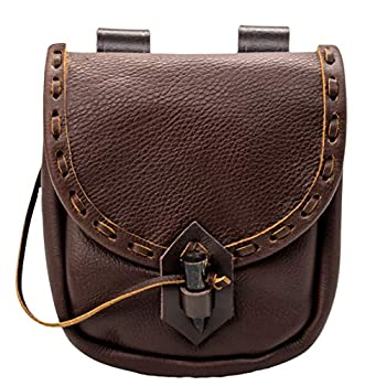 Mythrojan Belt Pouch Renaissance Costume Accessories LARP Waist Bag Cosplay Coin Purse - Brown