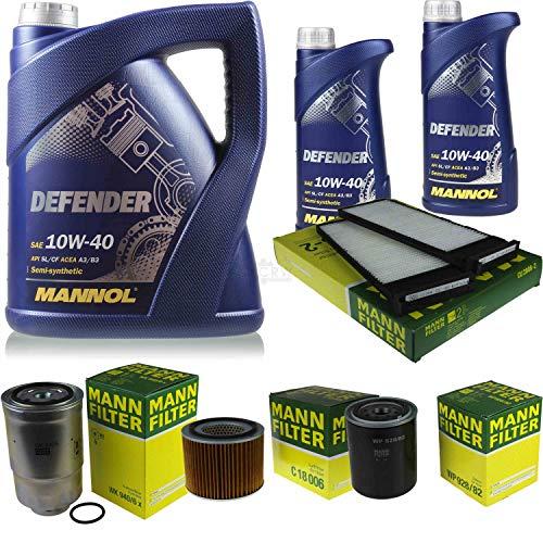 Aceite de motor Mannol Defender + filtro Mannol para Nissan Patrol GR II Y61 2.8 TD