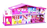 FlexZone® Doll House/Play Set for Girls (50 Pcs) -Multicolour (Deluxe Doll House)