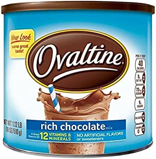 Ovaltine Nutritional Drink, Rich Chocolate, 1.12 lb