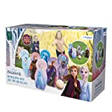 John Juego de Bolos Anna Elsa 41131 de Frozen de Disney de Madera FSC, Multicolor