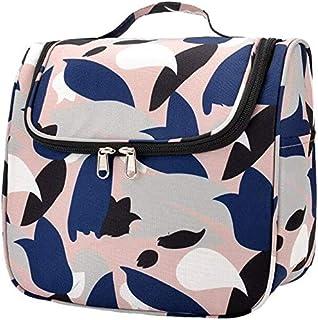 حقيبة مستحضرات التجميل الكبيرة من WSJTT حقيبة مستحضرات التجميل لتنظيم مستحضرات التجميل للنساء والفتيات (اللون: وردي)