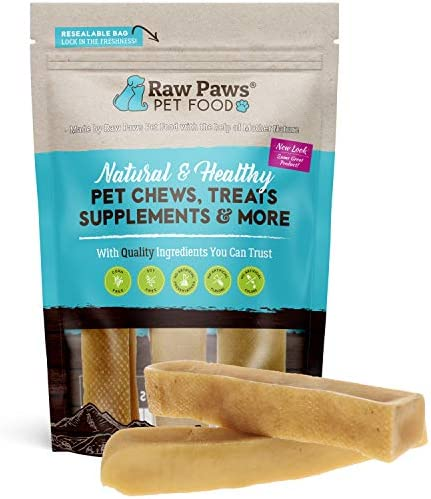 Raw Paws Large Yak Cheese Himalayan Dog Chews 3 Pack Packed in USA Natural Yak Chews for Medium product image