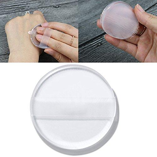 KINGDUO 2Pcs Silicone Maquillage Squishy Puff Correcteur Gelée Humide Transparent Cosmétique Éponge Visage Outils De Maquillage