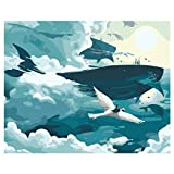 XIAOLIU Leinwand GemäLde Beleuchtete Fuchs DIY Malen Nach Zahlen Zeichnung Färbung Nach Zahlen Kits Malen Auf Leinwand Für Zuhause Wandkunst Bild 16X20 Zoll