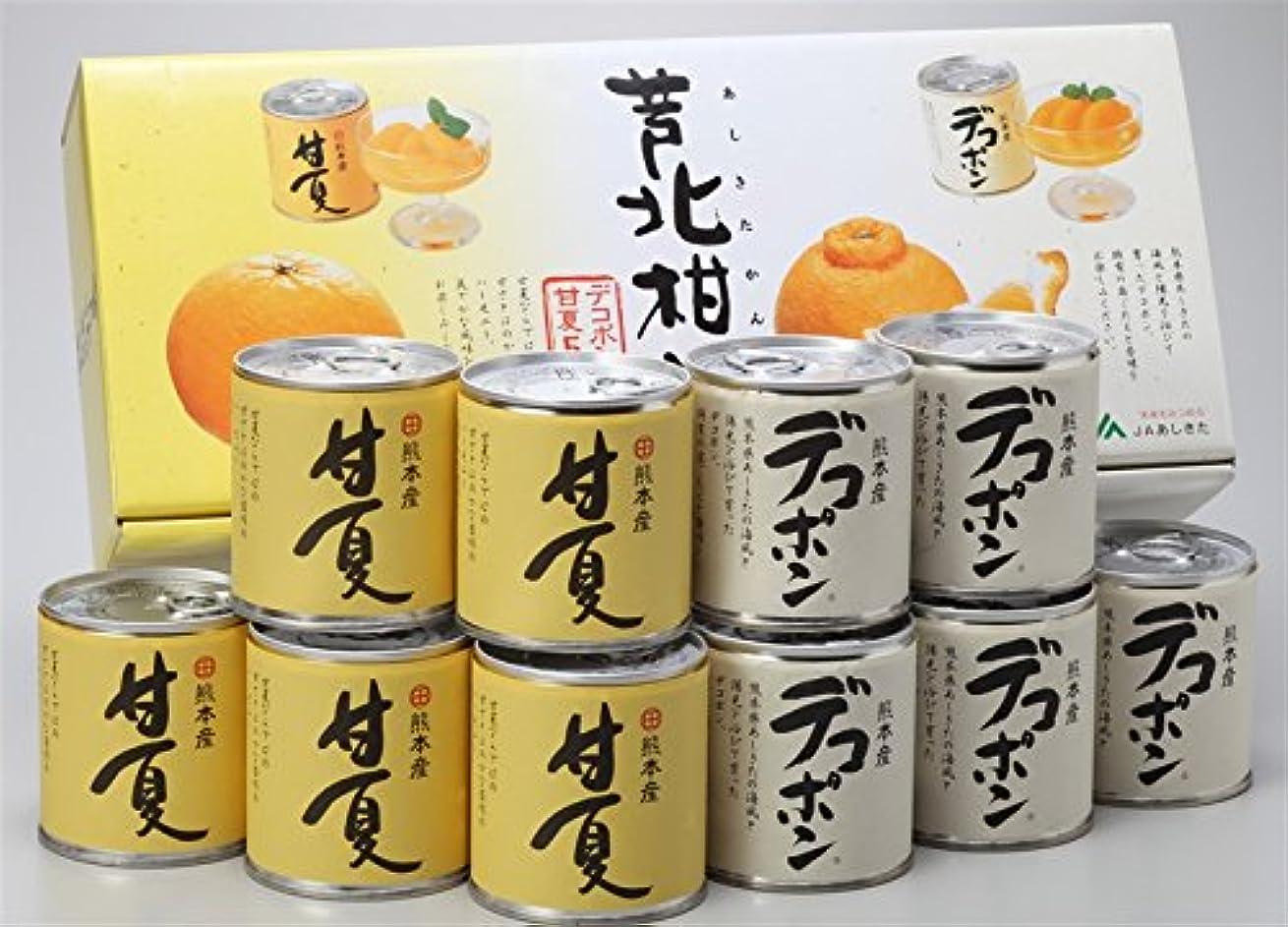 征服するうんざりからに変化するJAあしきた 熊本芦北柑橘 デコポン&甘夏缶詰め (10缶入り(化粧箱))