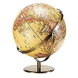 LiChaoWen Mapa del mundo detallado retro regalos educativos de la tierra, se pueden utilizar para decoración de escritorio de la oficina (color: amarillo, tamaño: talla única)