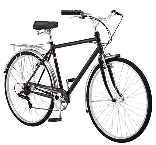 Schwinn Wayfarer Bike Mens and Womens Hybrid Retro-Styled Cruiser, 7-Speed, 28-inch Wheels, Medium Frame, Black