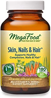 MegaFood, Skin, Nails & Hair, Supports Healthy Complexion, Nails & Hair, Multivitamin & Herbal Dietary Supplement, Gluten ...