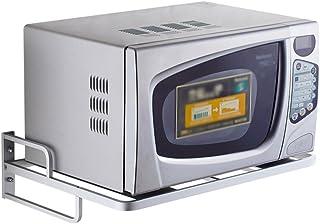 MICROWAVE OVEN RACK Estanterías para Horno MicroondasSoporte De Pared De Almacenamiento para La Cocina Estante para Cocin...