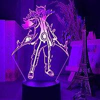 Tatapai 3DナイトライトイリュージョンLedランプ子供用装飾ランプイリュージョン3Dランプ日本アニメナルト倉間フィギュア子供用ナイトライトギフト子供用寝室の装飾色変更Ledナイトライト