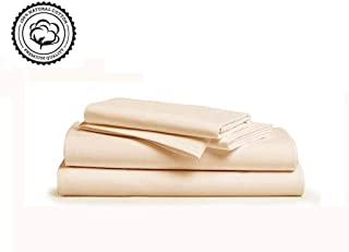 LINENWALAS 800 Thread Count -100% Cotton Sheets (Twin,Ivory)