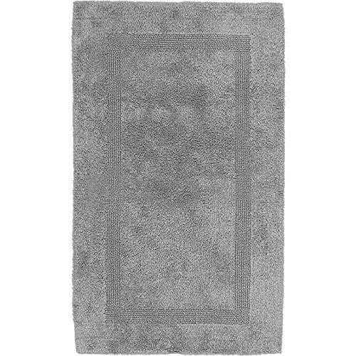 Erwin Müller Badematte, Badteppich grau Größe 80x150 cm - Kochfest, für Fußbodenheizung geeignet, 100% Baumwolle (weitere Farben, Größen)