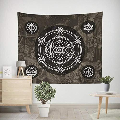 Tapiz psicodélico decoración colgante dormitorio cielo estrellado alfombra Luna tapices arte decoración del hogar Accesorios
