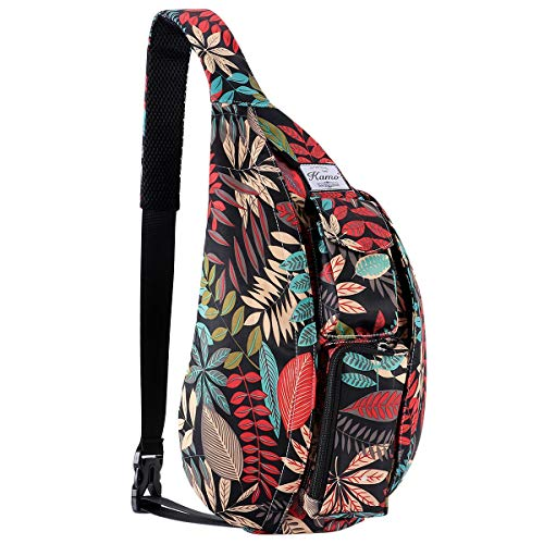 KAMO Sling Backpack - Rope Bag Crossbody Backpack Travel Multipurpose Daypacks for Men Women Lady Girl Teens