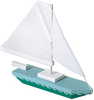 Darice Unfinished Sailboat Wood Craft Kit - 7in. X 6in. (Unfinished When Fully Assembled)