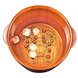 LYRZUYU Masaje de pies cubo con tapa, baño de pies bañera de hidromasaje, pedicura cuenca de...