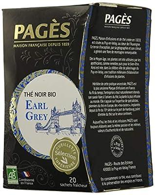 Pagès Thé Noir Earl Grey Bio 20 sachets - 1 pc parent