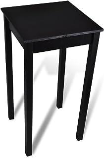 vidaXL Table de Bar Noir MDF Salle à Manger Bistrot Table Haute Table Cuisine