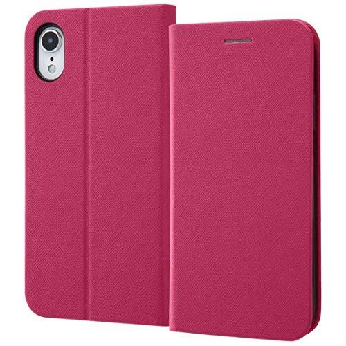 レイ・アウト iPhone XR用 手帳型ケース マグネットタイプ(ピンク) RT-P18SLC3/JP