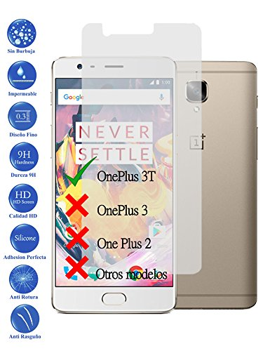 Todotumovil Protector de Pantalla OnePlus 3 de Cristal Templado Vidrio 9H para movil