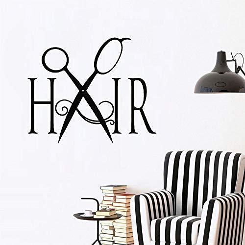 olwonow Haarschnitt Vinyl Wandtattoo Friseur Frisur Friseur Friseursalon Wanddekoration Schönheit Aufkleber abnehmbar modern -44x45cm
