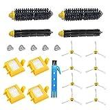 BSDY YQWRFEWYT Kit Cepillos Repuestos para iRobot Roomba Serie 700 720 750 760 770 772 772e 774 775 776 776p 780 782 782e 785 786 786p 790 Accesorios Filtros