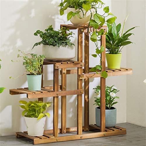G-HJLXYZWJHOME Houten Voetstuk Plant Stand Plant Bloem Display Bloempot Opslagrek Voor Binnen Buiten Tuin Gemakkelijk te monteren