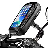 Faneam Waterproof Motorcycle Mount Phone Holder with Sensitive Touchscreen 360°Rotation Motorbike Phone Pouch