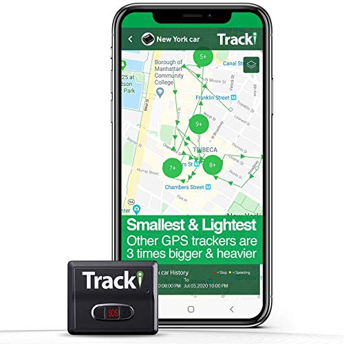 Tracki 2021 Model Mini Real time GPS Tracker. Full USA & Worldwide Coverage. for Vehicles, Car, Kids, Elderly, Child, Dogs & Motorcycles. Magnetic Small Portable Tracking Device. (Renewed)