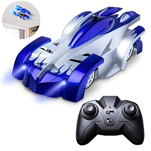RC Cars for Kids Remote Control Car Toys with Wall Climbing,Low Power Protection,Dual Mode,360°Rotating Stunt,Rechargeable High Speed Mini Toy Vehicles with LED Lights Gifts for Boys Girls (Blue)