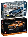 BRICKCOMPLETE Juego de 2 piezas Lego 42126 Ford Raptor & 10265 Ford Mustang