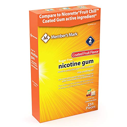 Member's Mark 2mg Nicotine Gum, Coated Fruit Flavor (231 ct.)