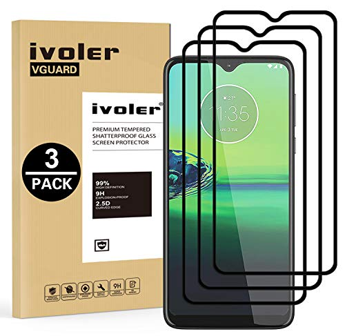 ivoler 3 Stücke Panzerglas Schutzfolie für Motorola Moto One Macro / G8 Play, [Volle Bedeckung] Panzerglasfolie Folie Hartglas Gehärtetem Glas BildschirmPanzerglas für Motorola Moto G8 Play/One Macro