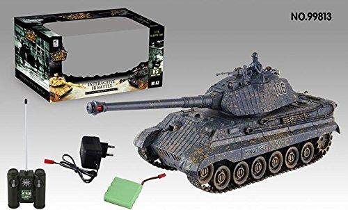 RC Auto kaufen Kettenfahrzeug Bild: s-idee® 01661 Battle Panzer 1:28 mit integriertem Infrarot Kampfsystem 2.4 Ghz RC R/C ferngesteuert, Tank, Kettenfahrzeug, IR Schussfunktion, Sound, Licht, Neu, 1:24, Schuss Sound, Beleuchtung*