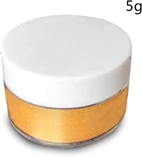 WEKA Luster Dust Cake Chocolate Candy Decorate Edible Lustre Powder for Food Highlighter Decorating 5g Each Container-Gold