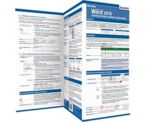 Word 2019 Seriendruck – Briefe, Etiketten und Umschläge: Die Wo&Wie Schnellübersicht
