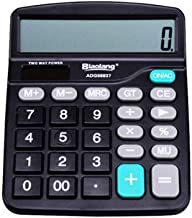 $37 » 12-Digit Standard Desktop Calculator, Solar and AAA Battery Operated, with Large Display Compact Design, for Office Calcul...