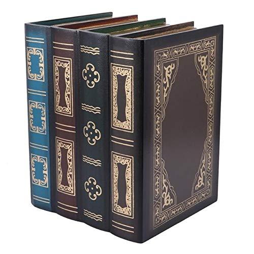 LKU Opbergdoos Boekvorm opbergdoos nep boek houten sieraden doos kantoor decoratie geheim item opbergdoos