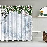 XCBN Cortina de Ducha Impermeable con Estampado de Rosas de Girasol, Cortinas de baño para decoración del hogar, mampara de baño Lavable A36 90x180cm
