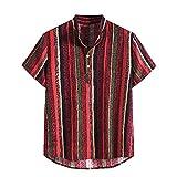 Verano Hombres Camisa Superior Casual Manga Corta Camisas Stand Collar Tira Impresión Fresco Delgado Camisa Hombres Vestido Masculino Ropa Tops